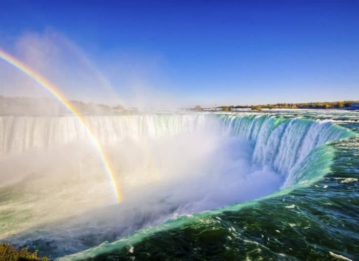 Niagara Falls with a Rainbow
